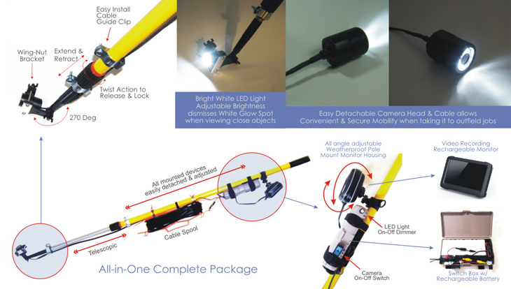 White Light Telecopic Pole Video Camera System